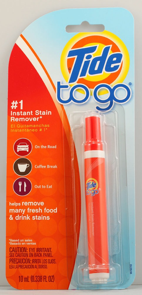 Stain Remover  Ahhh. I love getting some cheeseburgers while I'm out, but ketchup always gets on me. Keep a stain removing pen around to solve that.