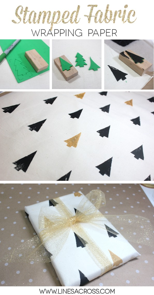 15.Or simply tie the fabric around your box in a knot. ThisTUTORIALuses hand-stamped fabric tied furshiki-style  http://www.unruly-things.com/2011/06/guest-post-hand-printed-fabric-gift-wrap-tutorial.html