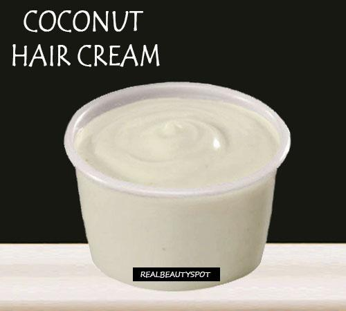 To make the cream, you will need 2tbsp. coconut oil, 1 tsp. of olive oil and few drops of essential oil (Tea tree or Cypress oil). Mix all the ingredients well and then apply it on your scalp and strands completely. allow it to stay for 30-45 min.