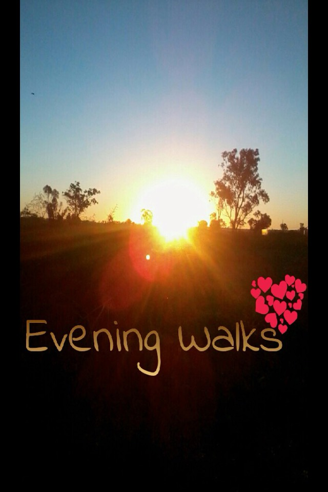 Go for an hours walk while the sun is going down😍