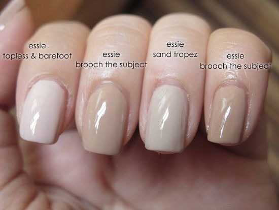 Nude nails never go out of style!
