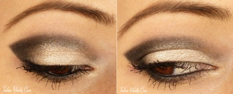 Eyeshadow! Bronzer creates a beautiful nude/bronzed look on your eyelid!