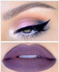 A beautiful purple inspired makeup look
