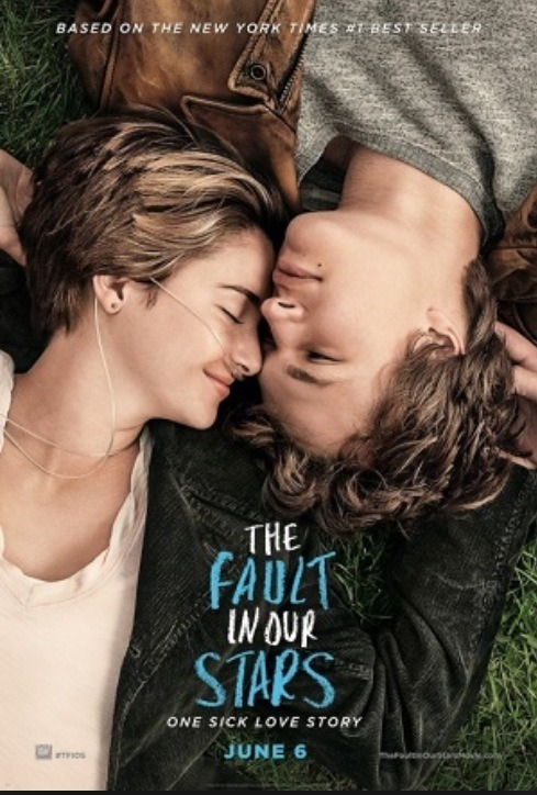 The fault in our stars This is a romantic comedy / sad movie. It's new but brilliant. One of my favourites and the book it amazing too.