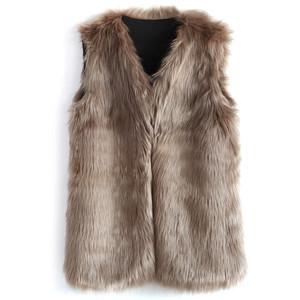 Nice cozy fur vest, fun and warm.