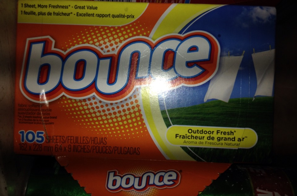 You will need laundry sheets of any kind! I love to use Bounce or Gain