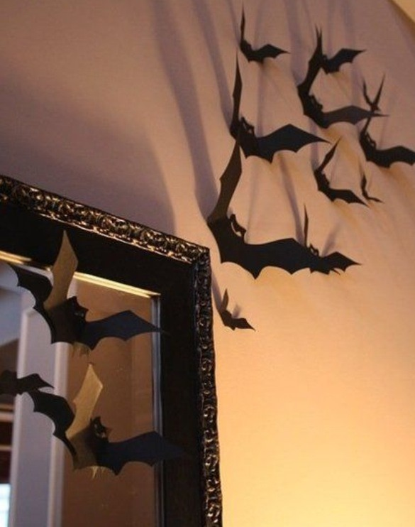 Bats flying out if mirror / across wall! So easy!