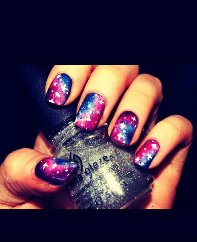 Galaxy nails✨🌟💫