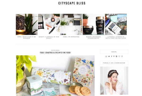 "🔟Cityscape Bliss: This beauty blog is brought to us from the UK. It's the perfect ""combination of prim, proper, and bohemian! The creator, Tereza, reviews cosmetics, nail polish, and hair products (among other things) with gorgeous, self-modeled images"""