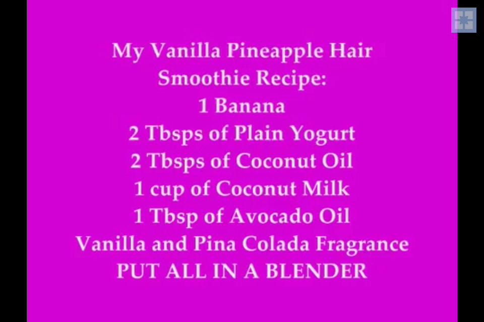 Use hair smoothie immediately for best results! (I don't suggest saving any for later)