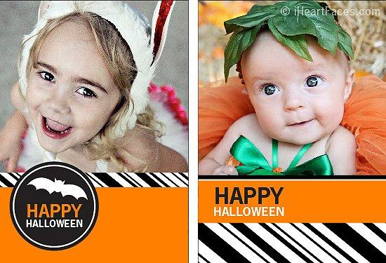 Customizable Halloween Cards Send out happy Halloween wishes with these photo cards from I Heart Faces — you can personalize it with a snap of you in your costume!