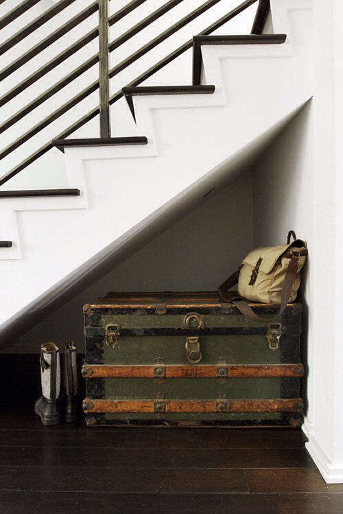 18. Use a trunk to store out-of-season clothing or shoes, which can also double as a bench in small spaces. Get more out of your space, put your out-of-season clothing in vacuum-packed bags.