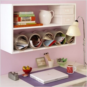 Creative way to organize your desk!