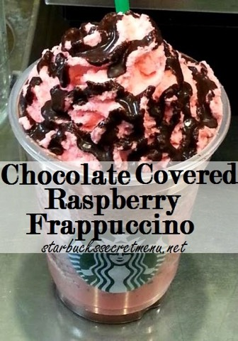 •Vanilla bean Frappuccino (creme based) •Add java chips •Add raspberry syrup (2 pumps tall, 3 pumps grande and venti) •Line the inside of the cup with mocha sauce •Top with raspberry whip and mocha drizzle