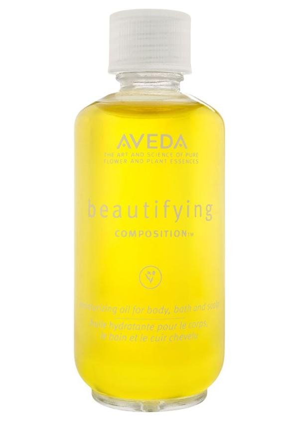 This body oil is multi-purpose, promising dryness relief for body and scalp in a blend of organic soybean, olive and safflower oils. Scented with lavender, rosemary and bergamot, this fresh smelling moisturizing oil combines the best parts of nature into your primping routine.