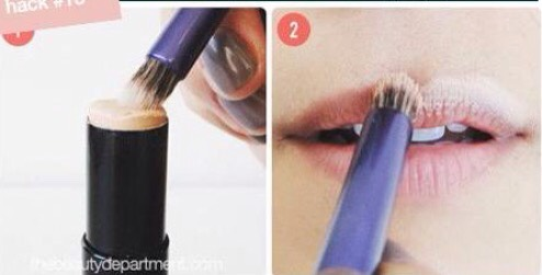 Outline your lips with concealer before putting on a bright color of lipstick, it will make your lips look bigger.
