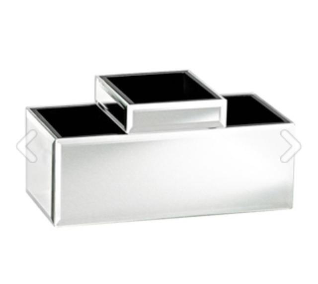 Mirrored Makeup Storage, $49, potterybarn.com