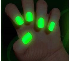 Get some nail polish and some glow sticks and mix it together apply to nails wait till dry and go test them out
