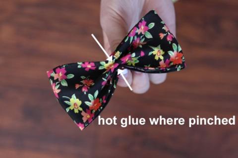Careful with the hot glue gun, as it can burn