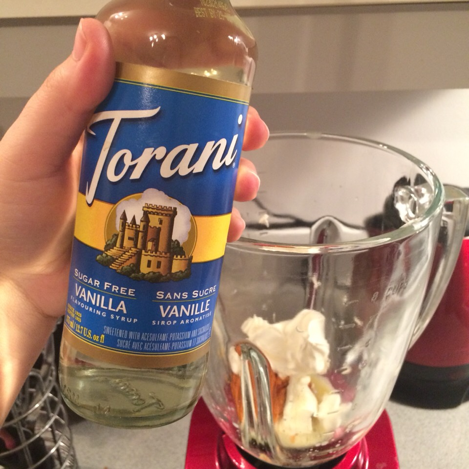 Add 2-3 tbs. Of Vanilla syrup.