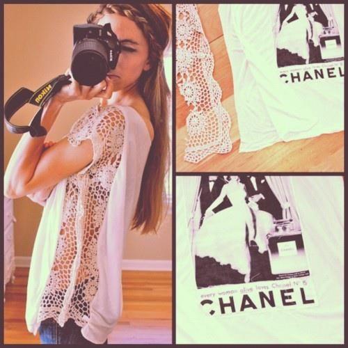5. Crochet trim shirt