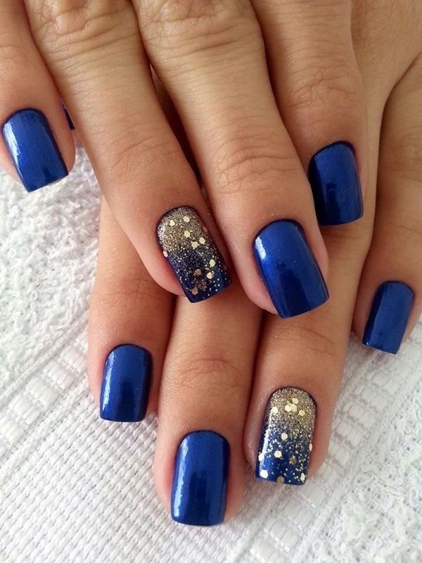 Blue and gold square tips