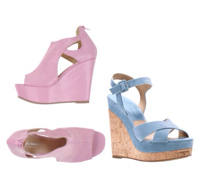 Wedges look great in Rose Quartz and Serenity too😍
