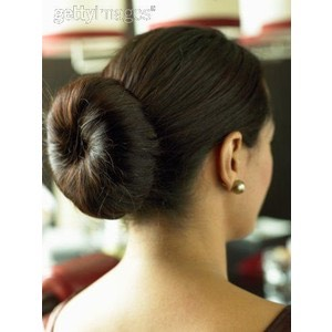 1) putting your hair in a bun is super easy and the curls look really pretty! Most types of buns work