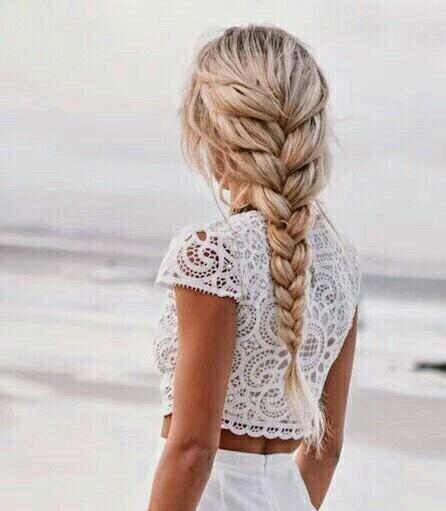 8. Easy loose French braid
