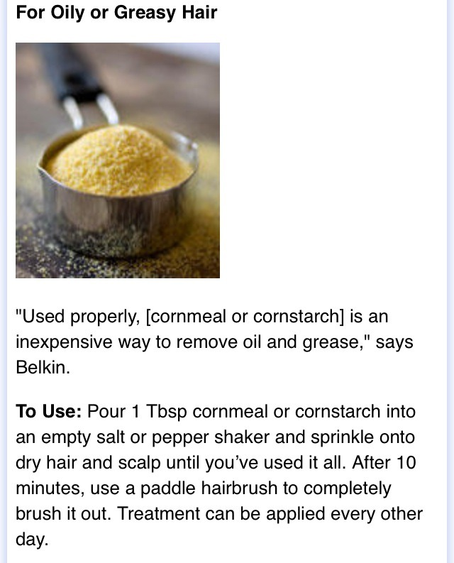 For oily or greasy hair
