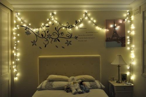 Hang Christmas lights.