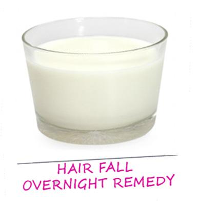 Hair loss: Take some coconut milk and slowly massage it into your hair from root to tip. Wrap your hair in a warm towel and leave it on overnight. Wash with a mild shampoo and let your hair dry naturally. The coconut milk helps add protein to you hair and strengthen it.