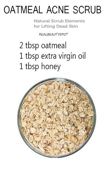 tmeal will cleanse the skin of oil and exfoliate the pores to clear clogged pores, help heal acne and brighten the skin}