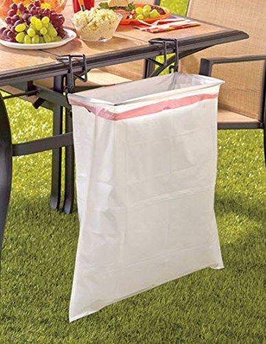 It's perfect on picnic tables. http://homegadgetsdaily.com/portable-trash-ease-bag-holder/