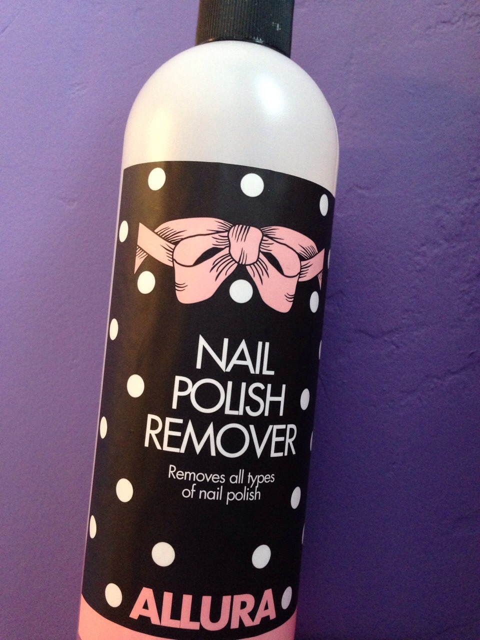You'll need polish remover to remover any access polish or dirt