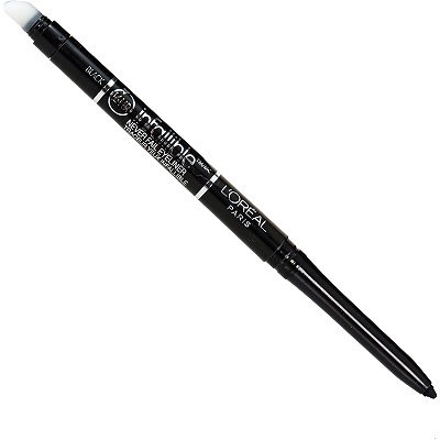 L'Oreal Infallible pre-sharpened eyeliner is a go-to one! Long lasting and goes on smoothly.