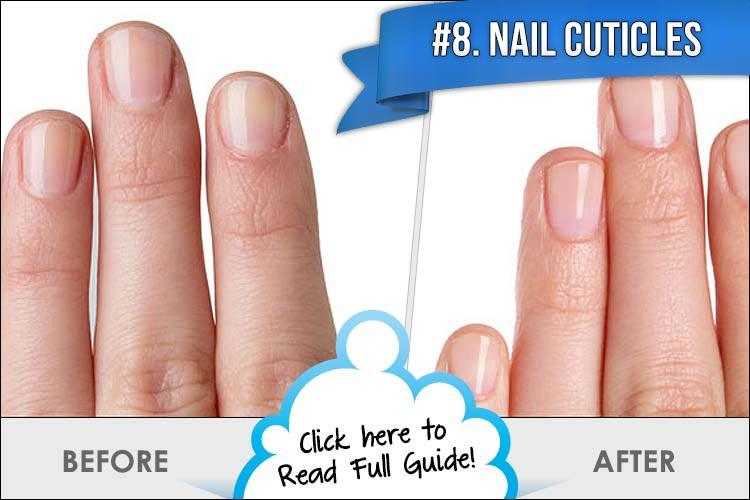 8. Nail Cuticles  It is so important to keep your cuticles healthy and clean. Most people seem to forget about their cuticles and here is an easy way to keep them fresh and healthy. Apply coconut oil on your cuticles and this will help make your nails incredibly strong!