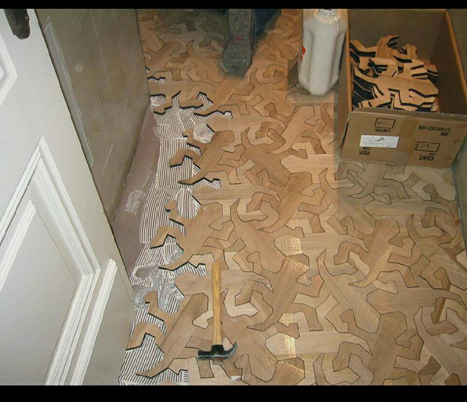 Cutouts that fit perfectly together will make any floor stand out.