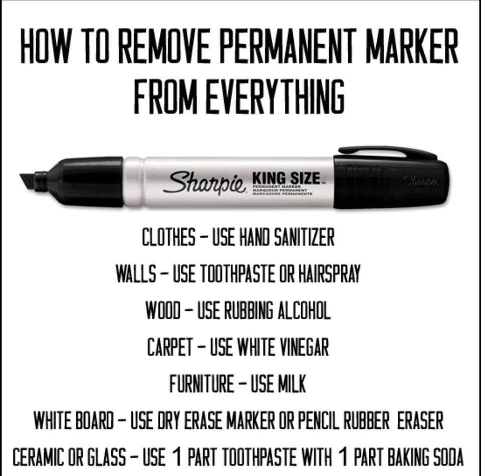 For those times when you're using a Sharpie and you have an accident...