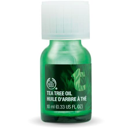 Tea tree oil helps acne and blemishes This is only true for people with oily skin. How do I know? I work at the body shop and am told not to recommend tea tree oil to anyone that doesn't have oily skin because it is very drying. Other skin types should look for solutions for their skin type.