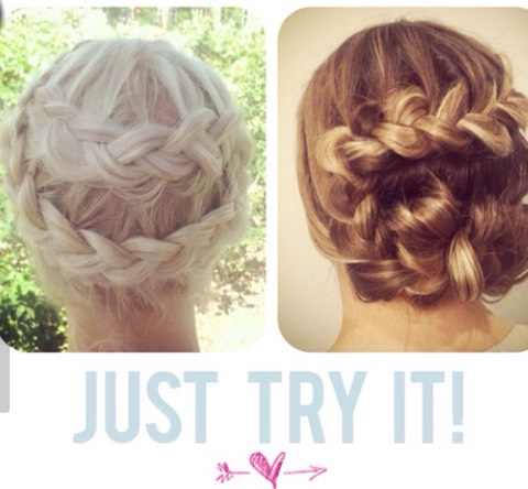 U make a braid that starts at the Top and then switch the direction at the middle and finish at the bottom