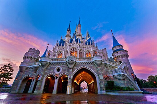 """When you walk down Main Street, look at the castle.  You will notice that the bricks get smaller the higher up the castle goes.  The Imagineers called it the """"forced perspective"""" technique.  The castle looks a little taller than it would if all the bricks were the same size."""