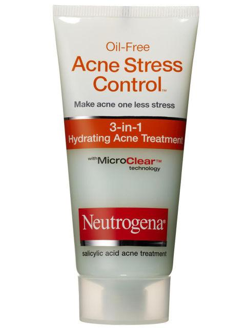 "Neutrogena Oil-Free Acne Stress Control 3-in-1 Hydrating Acne Treatment, $8 ""This miracle cream treats acne even before it emerges, hydrates and softens skin, and reduces redness and irritation!"""