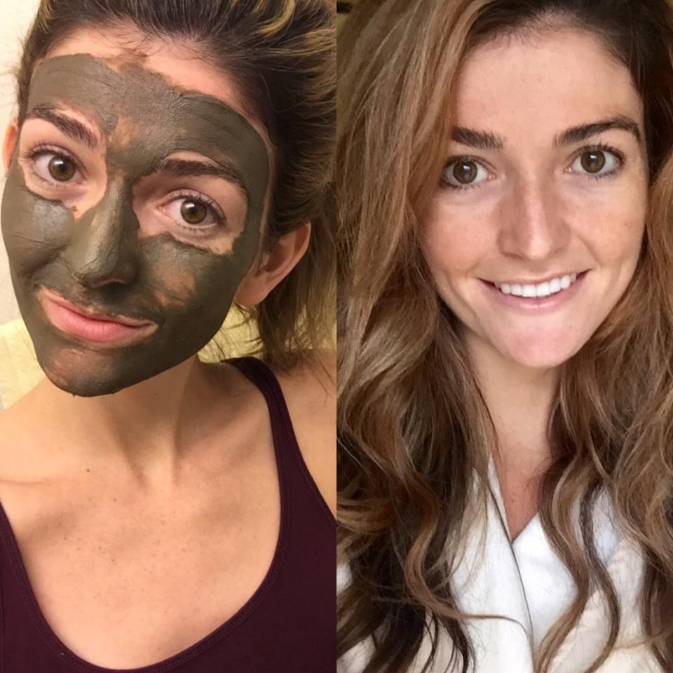 Beauty Benefits: Before and after of theglow that Alaskan Glacial Mudbestowed on Jess, Musely's Beauty Editor!
