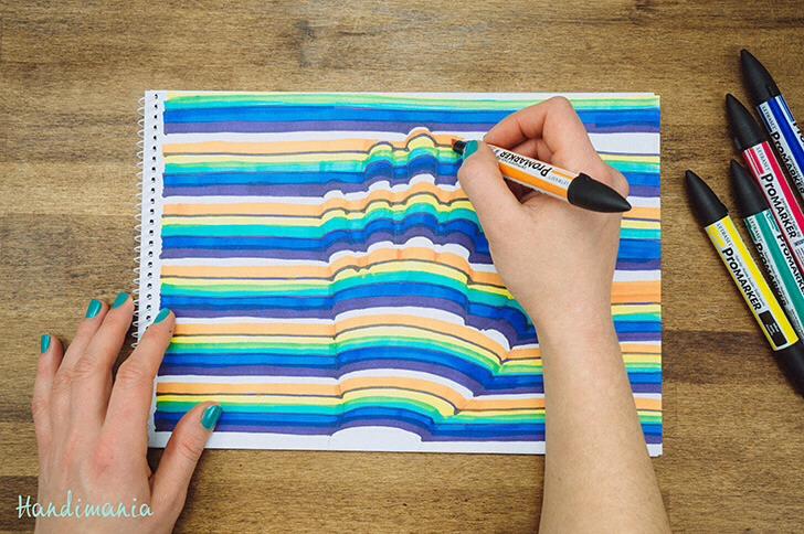 Color lines different colors