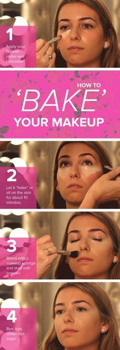 """Set your makeup by baking it  Make your face glow And ensure your look lasts all day with this trendy technique, called """"baking"""". By letting your makeup set And finishing with a translucent powder, your look will last longer."""
