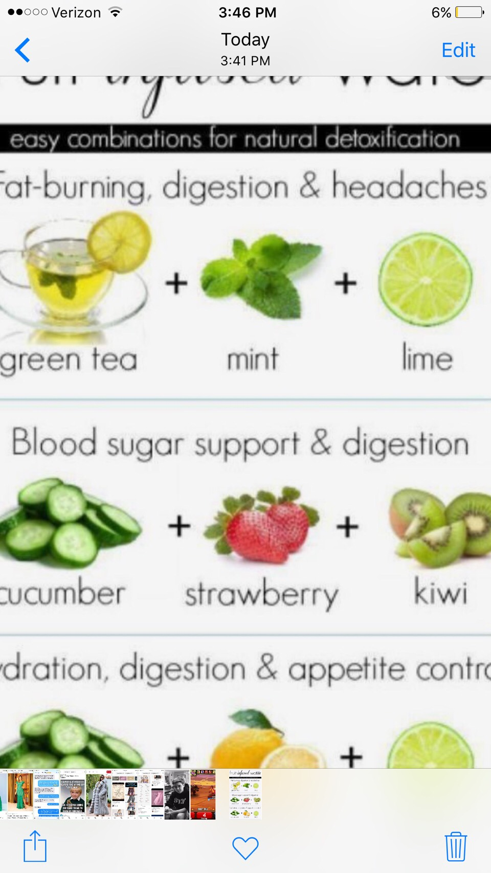 Fruit infused water is a great detox drink. Use all or one of these refreshing drinks to suit your different health needs whether it is weight lose to head aches.