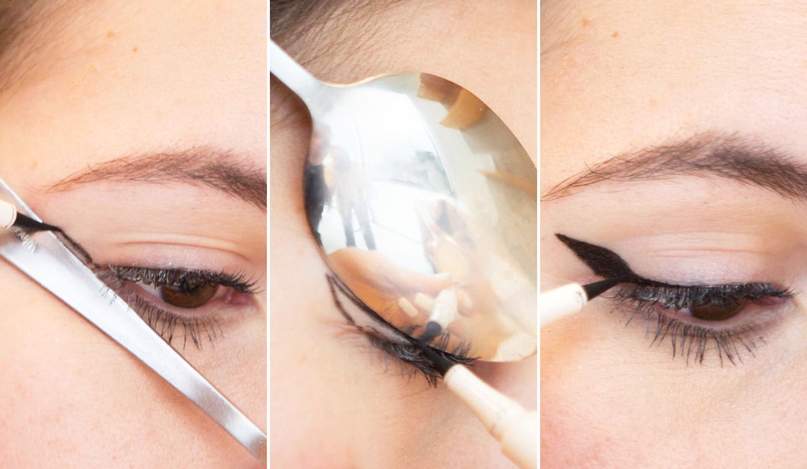 This is how you do the cat eye it works wonders especially if you have shakey hands