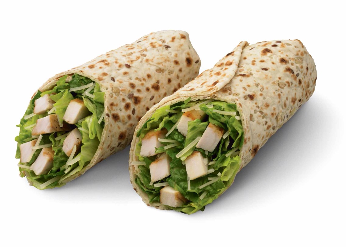 4. Chicken Wrap 700 calories  35 g fat   Eat this instead!  Grilled chicken sandwich 375 calories  15 g fat