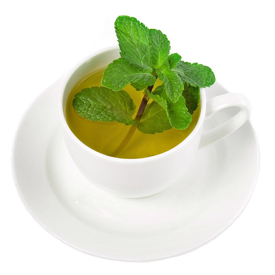 Mint tea helps soothe your stomach when you have a stomach ache